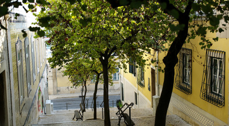 """""""Lisbon typical street stairs"""" di pedrosimoes7, su Flickr"""