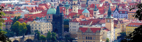 """Prague: Old Town seen from Petrin Hill"" di romanboed, su Flickr"