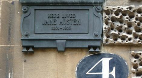 Jane Austen plaque di sleepymyf, su Flickr