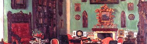 Casa Guidi, di George Mignaty, olio su tela, 1861