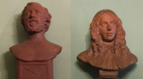 I busti dei coniugi Browning esposti a Casa Guidi ©turismoletterario.com