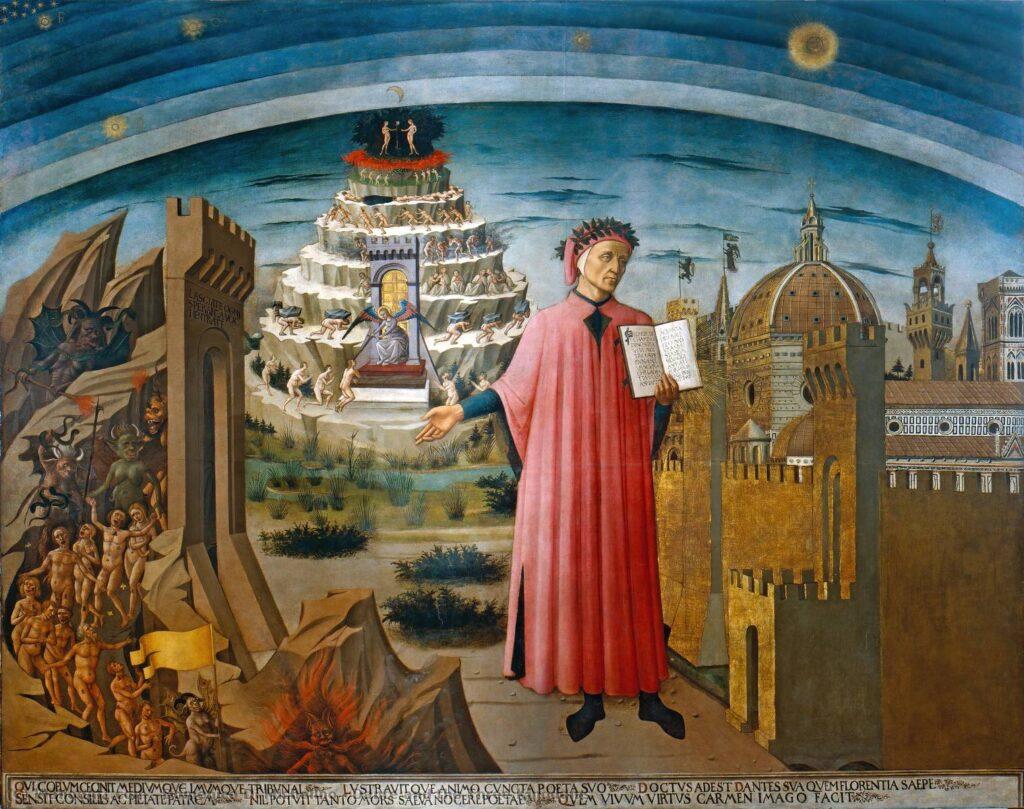 Dante in un affresco di Domenico di Michielino