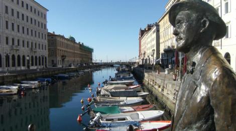 Statua di Joyce sul Ponterosso, Trieste