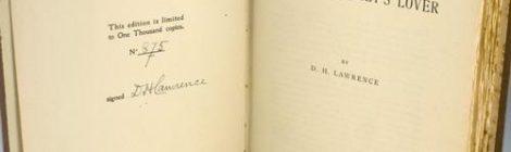 """L'interno della prima edizione de """"L'amante di Lady Chatterley"""""""