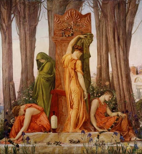 William Blake Richmond, Elettra sulla tomba di Agamennone (1874). Quadro esposto alla mostra