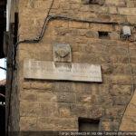 Firenze, targa della Divina Commedia