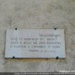 Vallombrosa, targa Ariosto