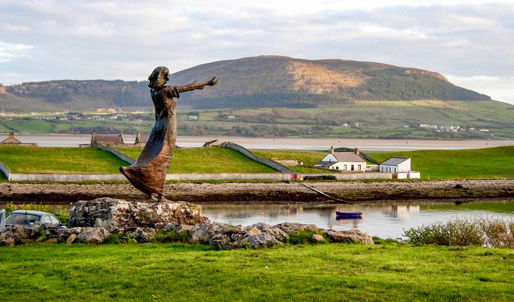 Rosses Point Statue Waiting On Shore Co. Sligo