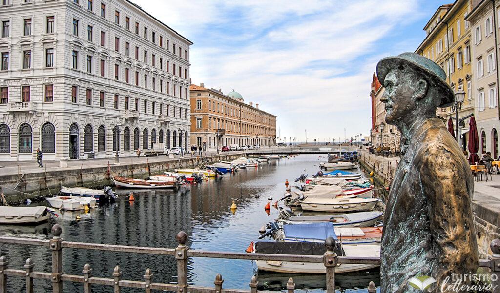 Statua di James Joyce sul Ponterosso, Trieste